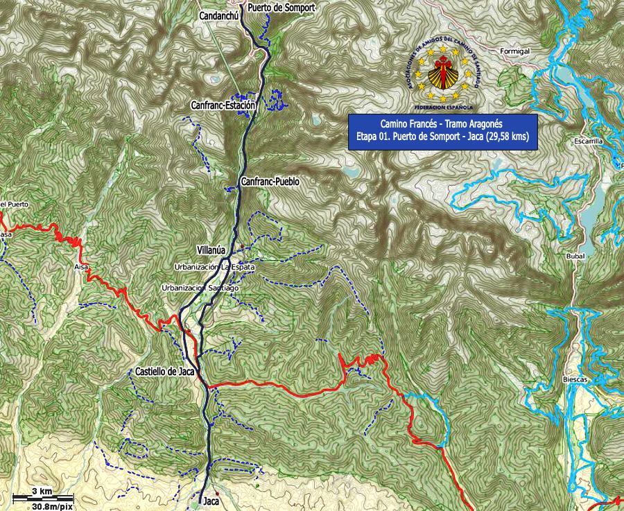 El Camino de Santiago - Camino Franc�s - V�a Aragonesa - Somport a ...
